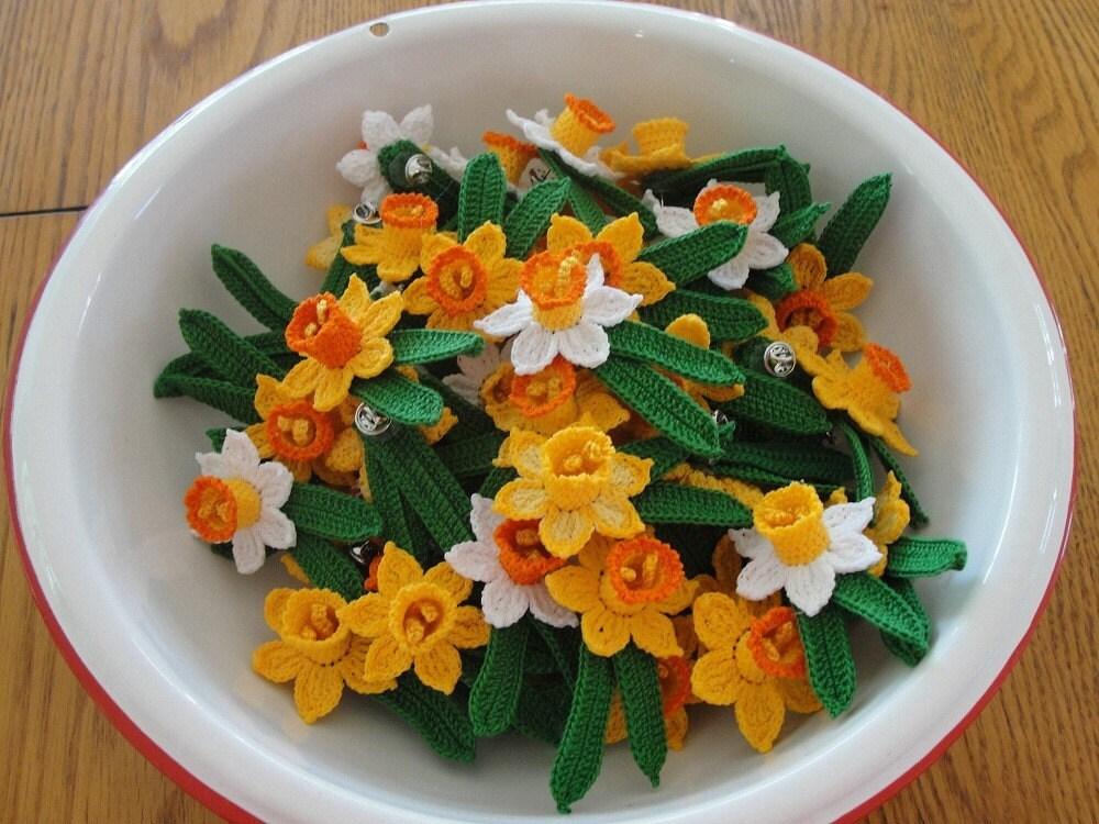Free Crochet Daffodil Flower Pattern : 3d Crochet Daffodil Flower Pattern