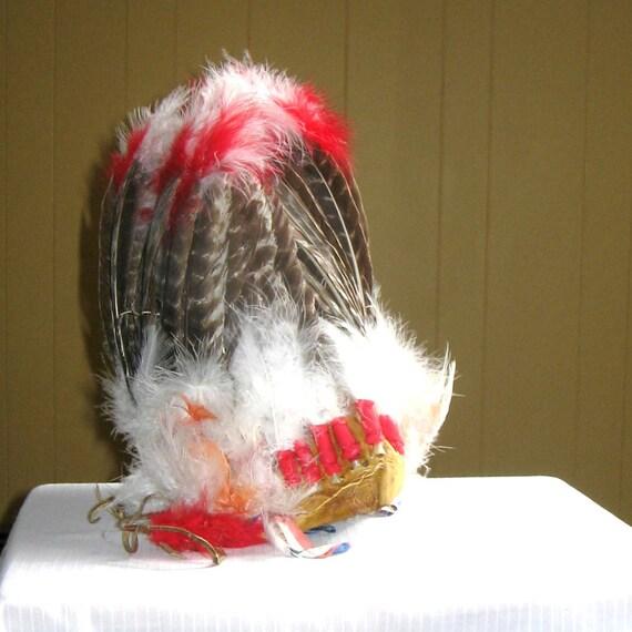 SALE Replica War Bonnet, Native American style, 1930s 50% OFF