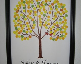Wedding Guest Signature Tree - Wedding Guest Tree Guest Book - Custom Orders Only - Wedding Wish Tree - Guest Book