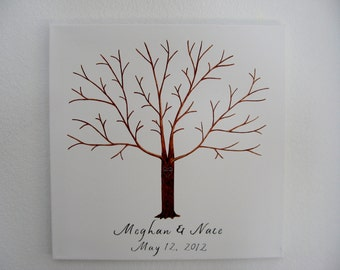 Wedding Thumbprint Tree on Canvas with Ink Pads - Custom Orders Only - 125 - 175 Guests  - Wedding Guest Tree  -  Large