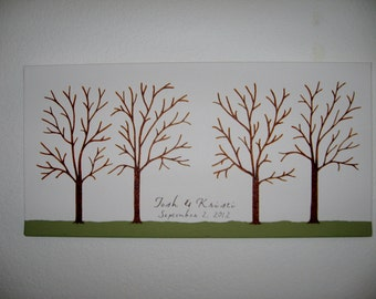 Wedding Guest Thumbprint Tree on Canvas with Ink Pads -  Custom Orders Only  - 150 - 200 Guests