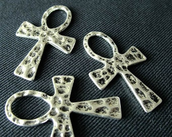 Destash (5) Ankh Cross Pendant - for pendants, jewelry making, crafts, scrapbooking