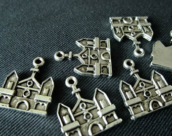Destash (7) Mexican Church Charms - for pendants, jewelry making, crafts, scrapbooking