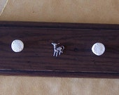 Wood Plaque Hooks Polymer Clay Straw beads cow