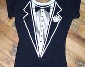 Ladies Tuxedo bodysuit