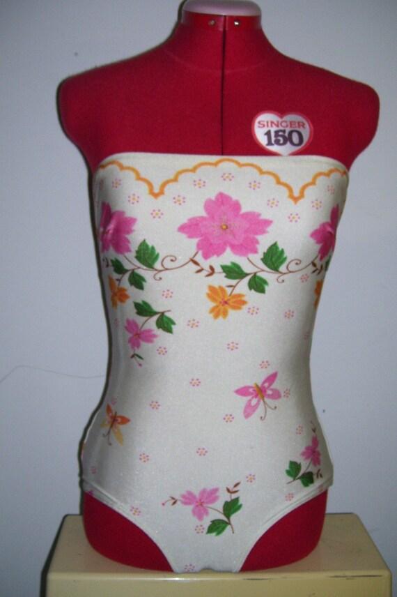 Vintage 1970's Gottex strapless swimsuit