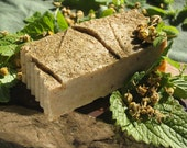 Organic Chamomile Lemon Balm Soap - 3/n/1 Great for face, body & hair- 5-6 oz. bar - Made w/ farm grown herbs