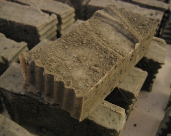Organic Clay Tea Tree Soap - 3-4oz bar - Handcut TRUE Soap- Not from a base - Hand Harvested Clay Added