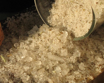Organic Bath Salts - Choose your type - Organic Rosemary Mint /Organic Lavender Rose/OR Organic Ginger Lemon- 8 oz. in a half pint glass jar