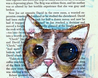 Pet portrait custom -Cat - Made to Order pet portrait --- custom hand drawn and painted picture of your cat, dog, canary, fish or ferret