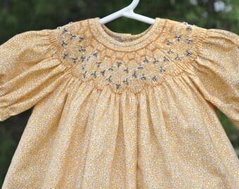 Baby's Hand Smocked Dress - Lauren (Reserved for Danna)
