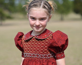 Girl's Hand Smocked Party Dress - Hope