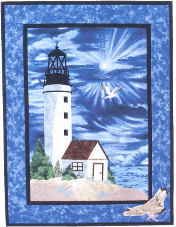 Quilting Lighthouse Patterns : Lighthouse Quilt Wall Hanging Pattern Applique Design