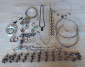 Repurpose Jewelry Lot - Destash Jewelry Lot - Mostly Metal