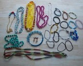 vintage - Jewelry Lot - Beaded Jewelry Lot - Supply Beads