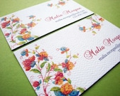 Personalized Flower Garden Business Calling Cards - Set of 50