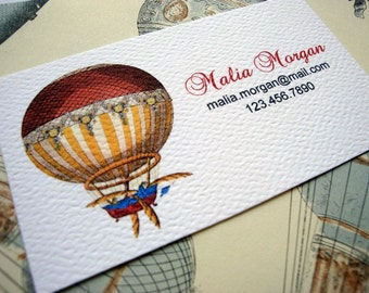 Business Cards, Custom Business Cards, Hot Air Balloon - Set of 50