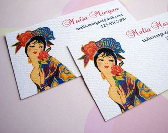Personalized Art Deco Business Cards, Calling Cards, Set of  50