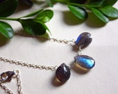 15% off: Dreamscapes Necklace- Labradorite on sterling silver chain