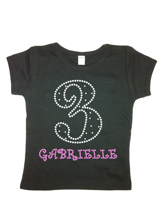 kdleslie: Girls Personalized Rhinestone Birthday Number Shirt or Tank