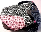 Baby Car Seat Cover - Pink and Black