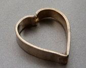 Bead Frame Heart Bali Sterling Silver  13mm 15mm