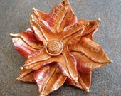 Large Copper Pendant Copper Flower 52mm Spring Jewelry