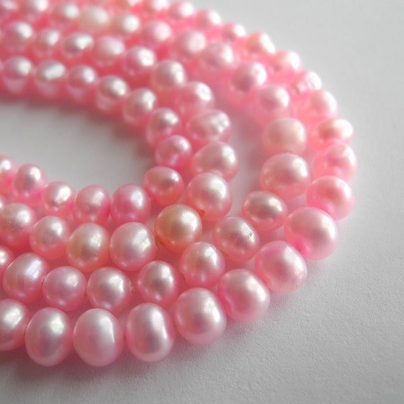 Freshwater Pearl Beads  Potato Pink Baby Pink Cotton Candy Pink 4mm 5mm Full Strand