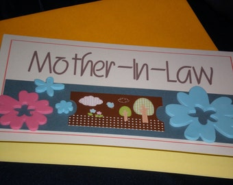 Handmade Mother in law Mother's Day Card