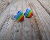 Rainbow hearts - horizontal - Stripe Summer Collection