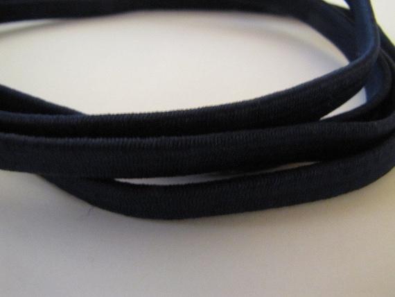 Navy blue stretch headbands - 10 pack