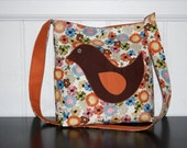 Little Birdie Floral Slouch Shoulder Bag - Ready to Ship