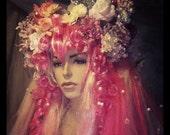 Pink fairy wig - glitter goth - lolita fabulousness