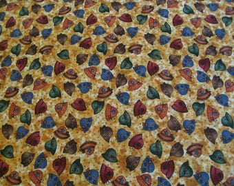 Cotton Fabric, Summertime by Little Quilts for Peter Pan, Half Yard