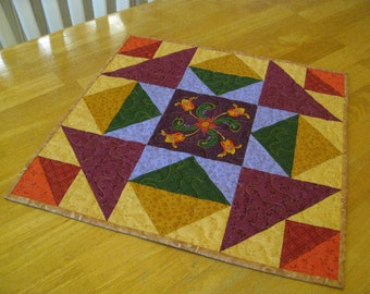 Harvest Spice Quilted Table Topper/ Wall Hanging