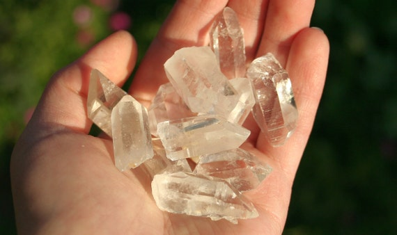 4 Clear Quartz Crystal Points from Arkansas