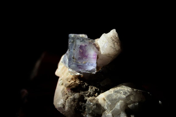 Large Fluorite with Quartz and Pyrite Specimen from China