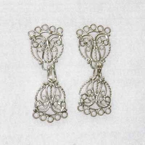 Silverplated Filigree Clasp