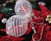 Hand Blown Glass Christmas Ornament Earrings