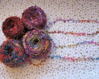 Multicolor Boucle Mohair Yarn