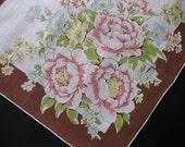 Vintage Floral Pattern Handkerchief