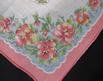 Vintage Printed Handkerchief For Mothers Day