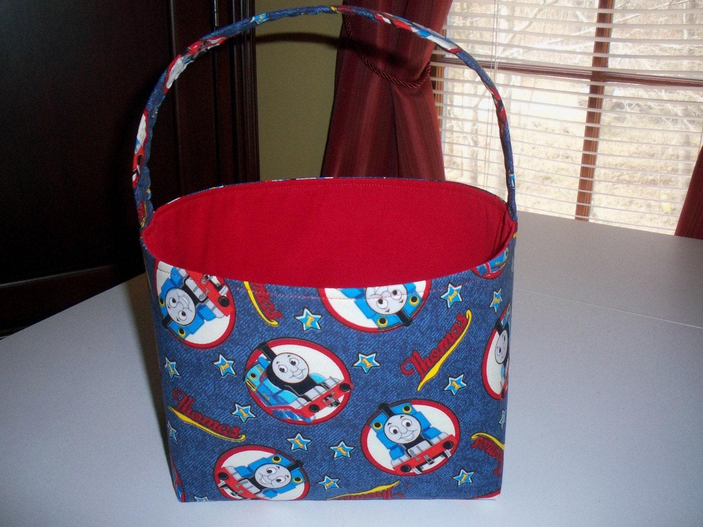 Custom boutique easter basket thomas the train choo choo - Custom made easter baskets ...
