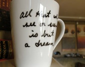 All That We See Edgar Allan Poe Mug-Slightly Imperfect