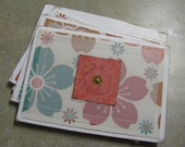 Floral Thank You notes with matching envelopes