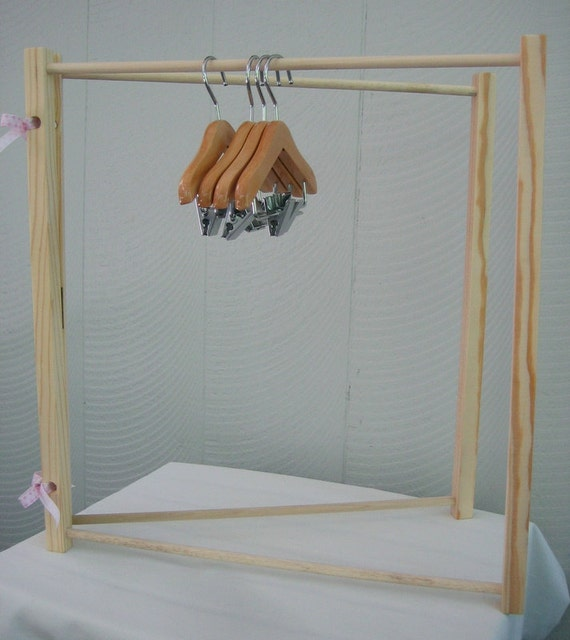 RESERVED Wood Doll Clothes Hangers & Starter Clothes rack/Hanger set for American Girl Doll 18 inch