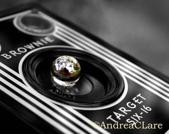 Old Camera, The Photographer, 8x10 Fine Art Photograph, Vintage, Retro, Black and White, box camera, print, photo, photographer, Print, art