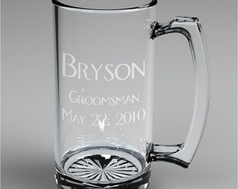 11 Personalized Groomsman Beer Mugs Custom Engraved Just For Meldon