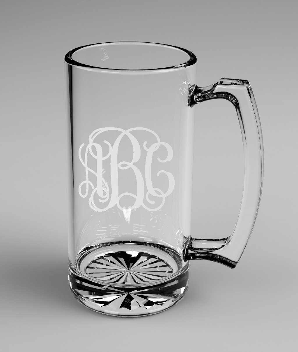Wedding Gift Beer Mugs : ... Groomsman Vine Monogram Beer Mugs Custom Engraved Wedding Gift