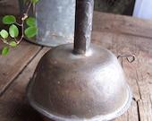 ANTIQUE Hanging Primitive TIN Oil Lamp